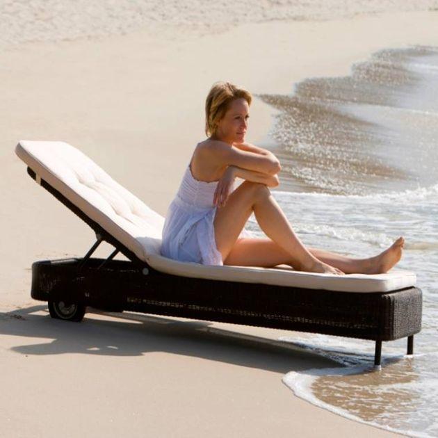 giường tắm nắng bãi biển không ngại thấm nước